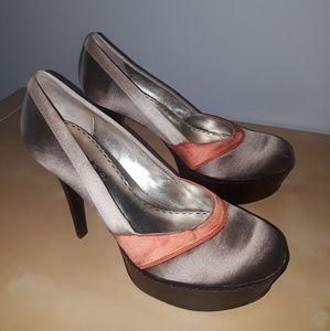 Bebe Satin Multicolor Shoe Size 6